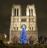 Paris. Notre Dame de Paris in Christmas Royalty Free Stock Photography