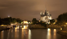 Paris - Notre-Dame at night Stock Photography