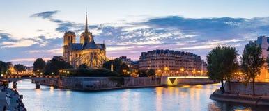 Paris Notre Dame Panorama Stockfotografie