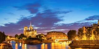 Paris Notre Dame Panorama Lizenzfreies Stockbild