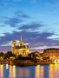 Paris Notre Dame Panorama Stock Photo