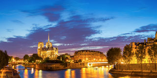Paris Notre Dame Panorama Royalty Free Stock Image