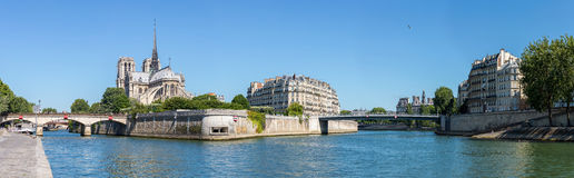 Paris Notre Dame Panorama Stock Images