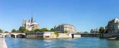 Paris Notre Dame Panorama Royalty Free Stock Photography