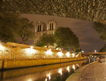 Paris - Notre Dame and riverside Royalty Free Stock Photo
