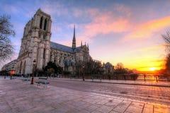 Paris - Notre Dame at sunrise, France Royalty Free Stock Image