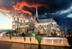 Paris - Notre Dame at sunrise, France Stock Image