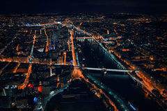Paris noturno da torre Eiffel Imagem de Stock
