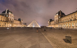 PARIS - NOV 30: Louvre museum lights at night, November 30, 2012 Stock Photos