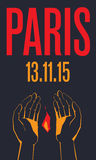 paris 13 november 2015 Royaltyfri Foto