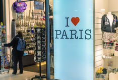 PARIS - 21 NOVEMBRE 2012 : J'aime la plaque de rue de Paris Attra de Paris Photo libre de droits