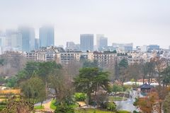 Paris, o d'Acclimatation de Jardin foto de stock