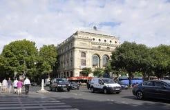 Paris, o 17 de julho: Teatro de Ville Building de Paris em França Foto de Stock