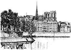 Paris - o la de Ile de menciona Imagem de Stock Royalty Free