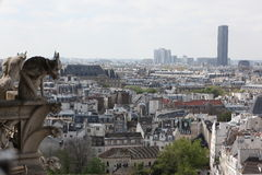 Paris och Notre Dame Cathedral - Paris berömda allra skenbilder, Royaltyfria Foton