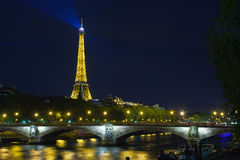 Alexander the Third bridge is popular touristic site in Paris. Stock Images