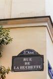 Paris old street sign Rue De La Huchette Stock Images