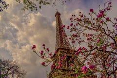 Paris olik sikt av Eiffeltorn arkivfoton