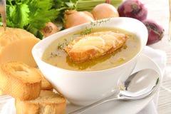 Paris onion soup Stock Photography