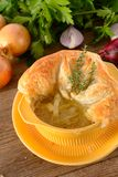 Paris onion soup Stock Images