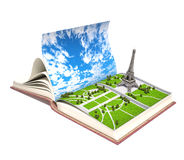 Paris  in the open book Royalty Free Stock Photo