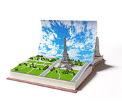 Paris  in the open book Royalty Free Stock Images
