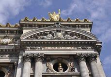 Paris, Oper Garnier Sculptures Lizenzfreie Stockbilder