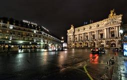 Paris-Oper nachts Lizenzfreies Stockfoto