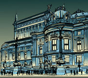 Paris, opera Garnier at night Stock Images