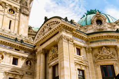 Paris Opera House. Example of the architecture at the Paris Opera House stock photo