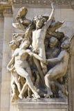 Paris Opera House Sculpture - Sculpture on the Facade of Palais Garnier Stock Image