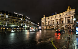 Paris Opera at night Royalty Free Stock Photo