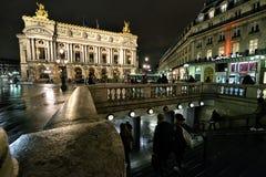 Paris Opera at night Royalty Free Stock Photos