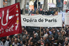 Paris Opera on strike Royalty Free Stock Photography