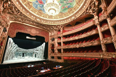 Paris operahus i Paris, Frankrike Arkivbilder