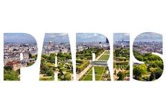 Paris ord Fotografering för Bildbyråer