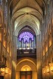 Paris. Organ at Notre Dame Stock Images