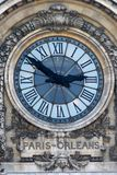Paris- - Orleans-Uhr lizenzfreie stockfotos