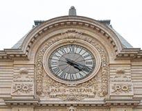 Paris Orleans Clock stock photos