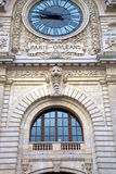 Paris orleans station clock in Paris Royalty Free Stock Photos