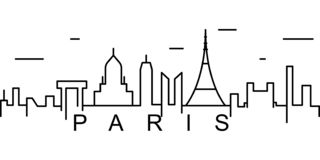 Paris outline icon. Can be used for web, logo, mobile app, UI, UX royalty free illustration