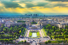 Paris over-view from Eiffel Tower Stock Photos