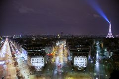 Paris på natten Royaltyfria Bilder