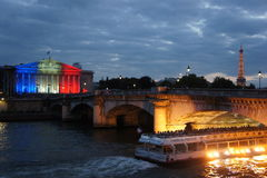 Paris på natten Royaltyfri Fotografi