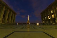 Paris på natten royaltyfria foton