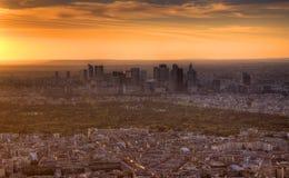 Paris på skymningen Fotografering för Bildbyråer