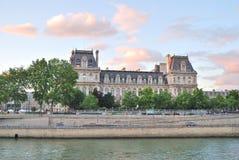 Paris på solnedgången Arkivfoton