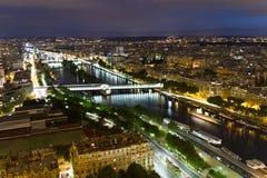 Paris på natten Arkivfoto