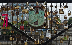 Paris - Padlocks Stock Photos