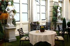 Terrace in a Palace Hotel Stock Image